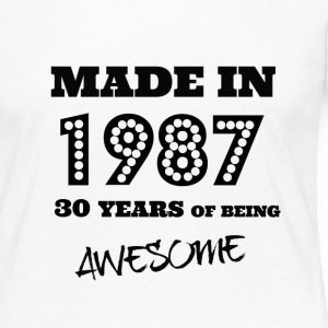 Made in 1987 30th Birthday - Women's Premium Long Sleeve T-Shirt