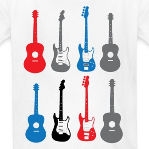 Boys Grunge Guitars - Kids' T-Shirt