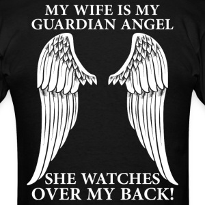 My Wife Is My Guardian Angel T-Shirts - Men's T-Shirt