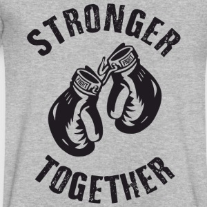 Stronger Together T-Shirts - Men's V-Neck T-Shirt by Canvas