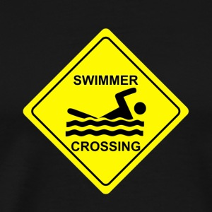 Swimmer Crossing - Men's Premium T-Shirt