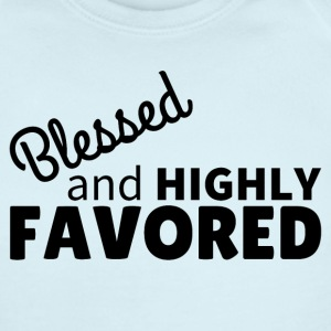 Blessed & Highly Favored Baby Bodysuits - Short Sleeve Baby Bodysuit