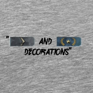 SILVER AND GOLD DECORATIONS - Men's Premium T-Shirt
