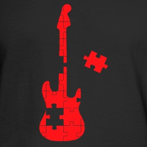 guitar puzzle - Men's Long Sleeve T-Shirt
