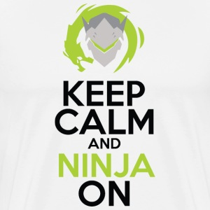 Keep Calm and Ninja On - Men's Premium T-Shirt