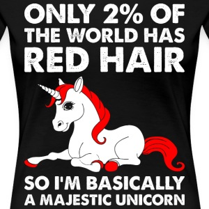 Only 2% Of The World Has Red Hair Majestic Unicorn T-Shirts - Women's Premium T-Shirt