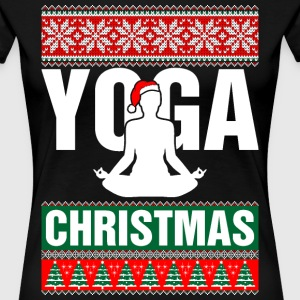 Yoga Christmas Ugly Sweater T-Shirts - Women's Premium T-Shirt