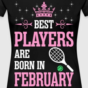 Best Players Are Born In February T-Shirts - Women's Premium T-Shirt