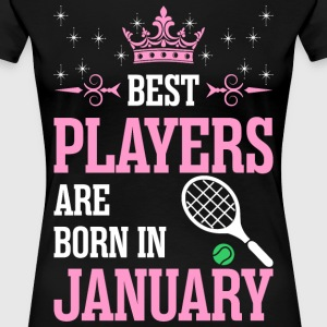 Best Players Are Born In January Ladies T-Shirts - Women's Premium T-Shirt