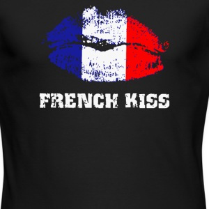 French Kiss - Men's Long Sleeve T-Shirt by Next Level