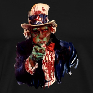 Uncle Sam Zombie - Men's Premium T-Shirt