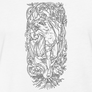 The Sacrifice of Odin - Fitted Cotton/Poly T-Shirt by Next Level