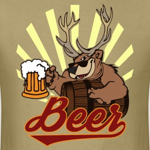 Bear Deer Beer T-Shirts - Men's T-Shirt