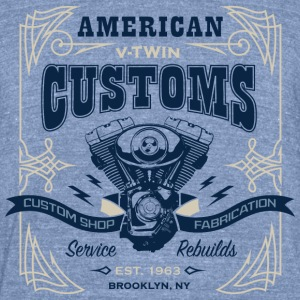 V-Twin_Customs - Unisex Tri-Blend T-Shirt by American Apparel