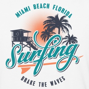 Miami Florida Surfing T-Shirts - Baseball T-Shirt