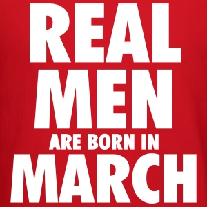 Real men are born in March Long Sleeve Shirts - Crewneck Sweatshirt