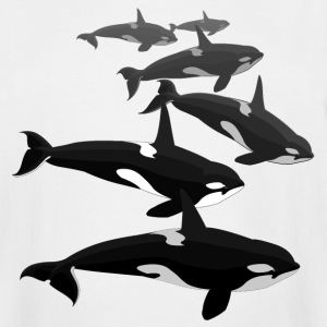 Orca Whale T-shirt Men's Killer Whale Shirts Sm -  - Men's Tall T-Shirt