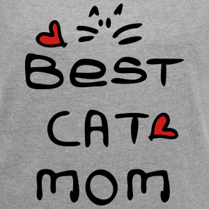 Best cat mom Women´s Rolled Sleeve Boxy T-Shirt - Women´s Rolled Sleeve Boxy T-Shirt