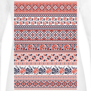 Collection cross-stitch pattern Long Sleeve Shirts - Women's Long Sleeve Jersey T-Shirt