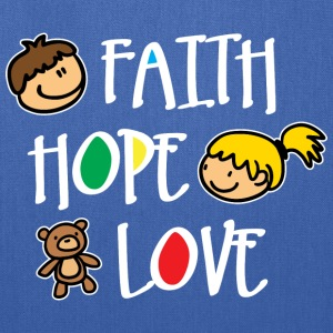 Faith Hope and Love (dark) Bags & backpacks - Tote Bag