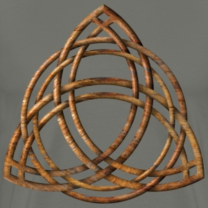 Celtic Triquetra - Wood Grain - Men's Premium T-Shirt