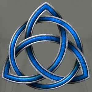 Celtic Triquetra - Blue and Silver - Men's Premium T-Shirt