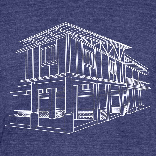 Dreams to Acts Campus Illustration T-Shirt (Indigo)