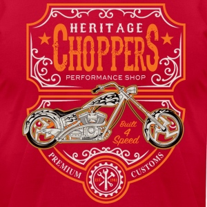 Heritage Choppers - Men's T-Shirt by American Apparel