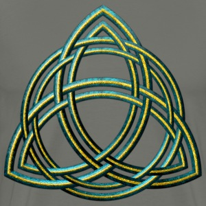 Celtic Triquetra - Green and Gold - Men's Premium T-Shirt