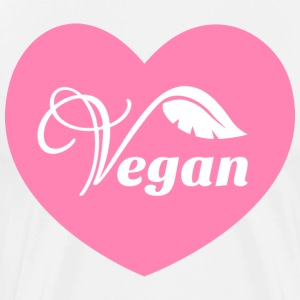 Pink Vegan Heart - Men's Premium T-Shirt