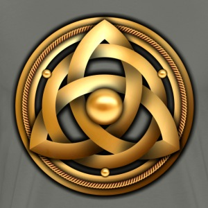 Celtic Triquetra Shield - Gold - Men's Premium T-Shirt