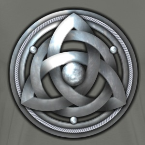 Celtic Triquetra Shield - Silver - Men's Premium T-Shirt