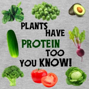 PLANTS HAVE PROTEIN TOO - Men's T-Shirt by American Apparel