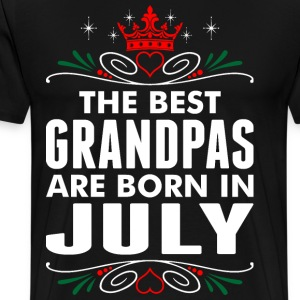 The Best Grandpas Are Born In July T-Shirts - Men's Premium T-Shirt