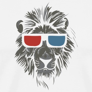 lion_with_3d_glasses - Men's Premium T-Shirt
