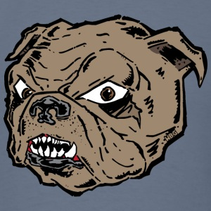 Bulldog Cartoon Head T-Shirts - Men's T-Shirt