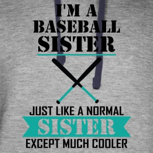 I'M A Baseball Sister Just Like A Normal Sister E Hoodies - Colorblock Hoodie