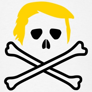 Trump Skull and Bones Flag T-Shirts - Men's T-Shirt