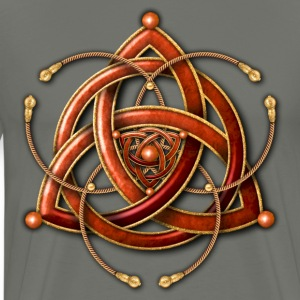 Celtic Triquetra - Copper and Gold - Men's Premium T-Shirt