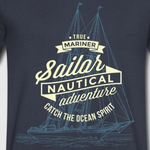 True Mariner T-Shirts - Men's V-Neck T-Shirt by Canvas