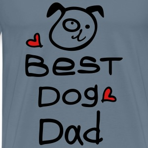Best dog dad Men's Premium T-Shirt - Men's Premium T-Shirt