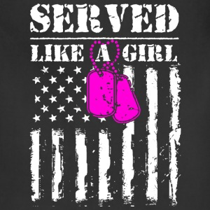 Served Like a Girl Aprons - Adjustable Apron