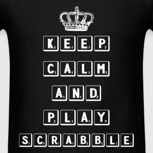 Scrabble - Keep calm and play scrabble - Men's T-Shirt