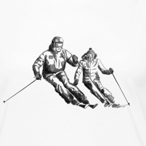 Ski couple Long Sleeve Shirts - Women's Premium Long Sleeve T-Shirt