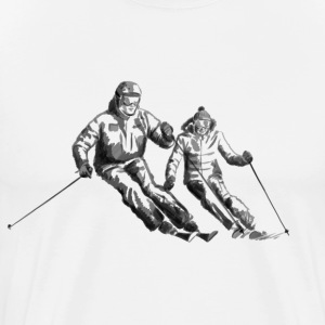 Ski couple T-Shirts - Men's Premium T-Shirt
