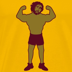 Strong muscle bodybuilder jesus thorns crown blood T-Shirts - Men's Premium T-Shirt