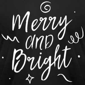 Merry and Bright T-Shirts - Men's T-Shirt by American Apparel