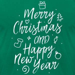 Merry Christmas and a happy new year T-Shirts - Men's T-Shirt by American Apparel