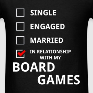 Board games - In relationship with my board games - Men's T-Shirt
