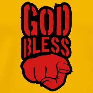 Bless god bless you finger show hand funny god jes T-Shirts - Men's Premium T-Shirt